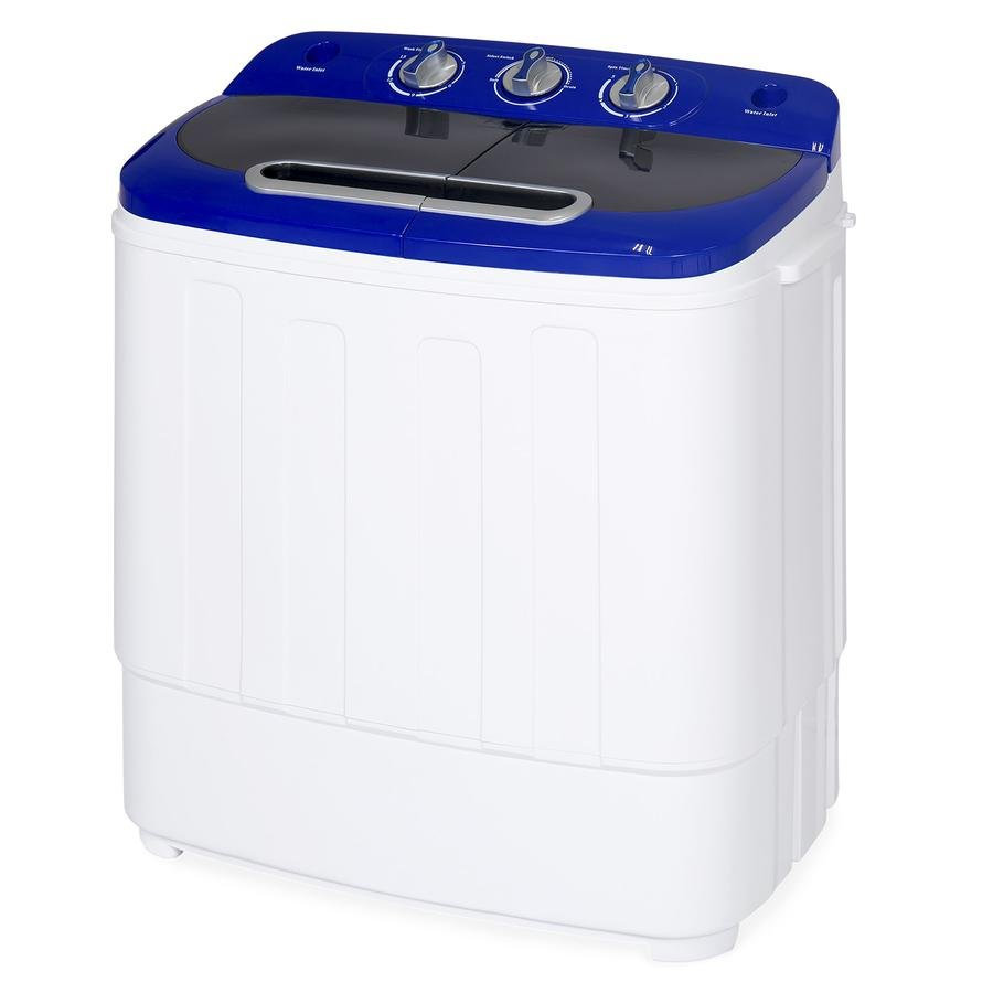 portable compact twin tub laundry machine & spin cycle by best choice product