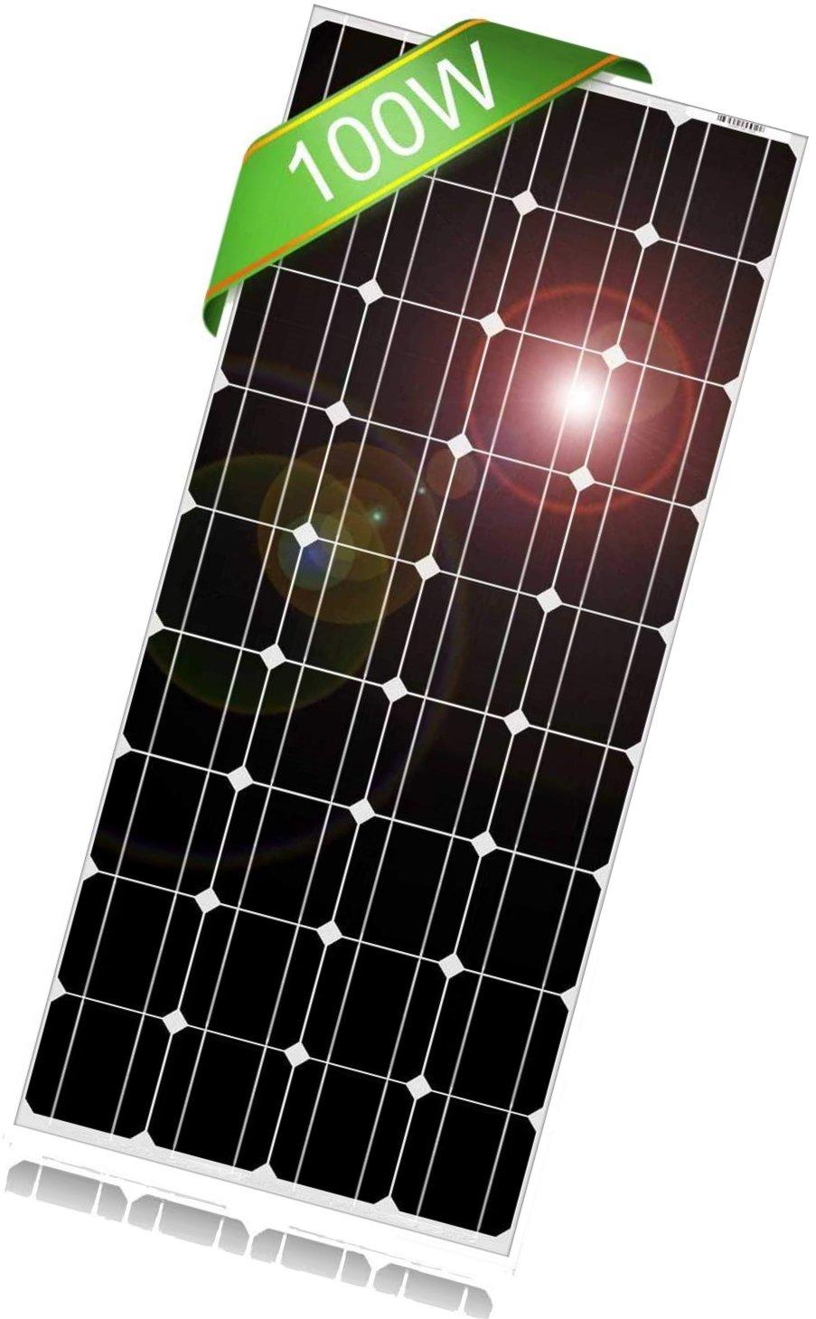 dokio 100 watt 12 volt monocrystalline solar panel