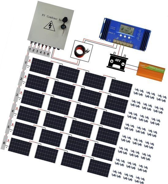 eco llc 2900w off grid solar panel kit 48V solar system