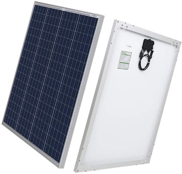 hqst 100 watt 12 volt polycrystalline solar panel with solar connectors