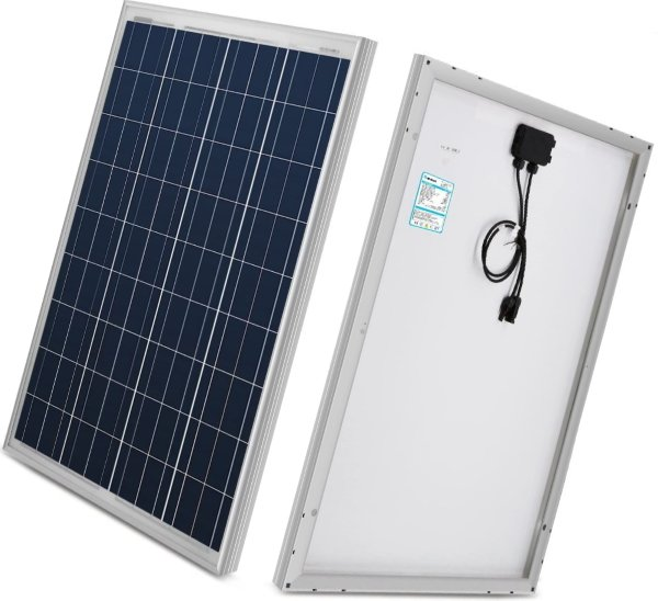 renogy 100w 12v solar panel high efficiency module pv power for battery charging boat
