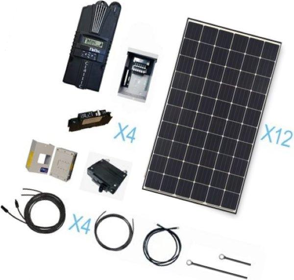renogy 3600 watt monocrystalline solar cabin kit for off-grid solar system