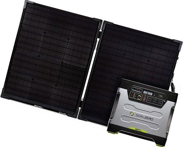 goal zero yeti 1250 solar generator kit with boulder