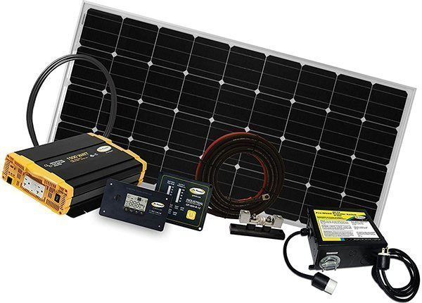 go power! weekender isw complete solar and inverter system - rv solar panels