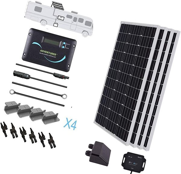 renogy 400w monocrystalline solar rv kit with 30a charger controller - rv solar panels