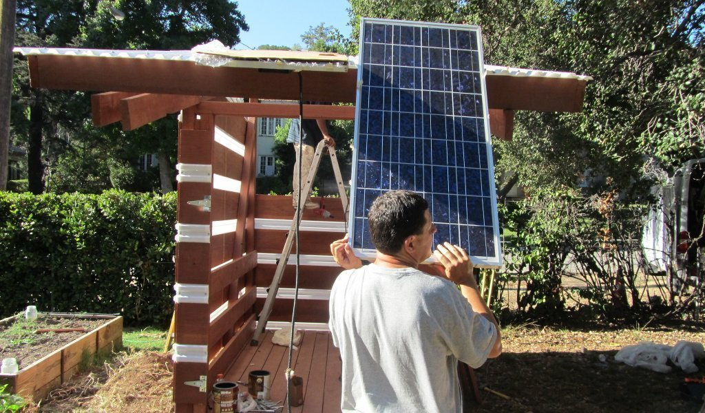 solar panels for shed