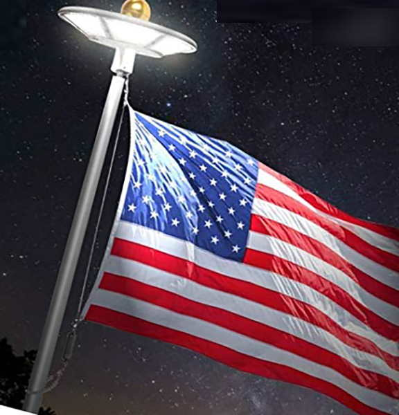 telepole manufacturing inc updated solar flagpole light - solar flagpole light
