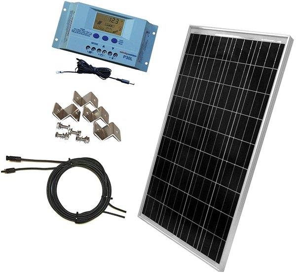 windynation 100 watt solar panel - rv solar panels