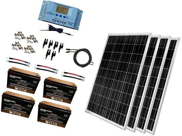 windynation 400 watt solar kit - rv solar panels