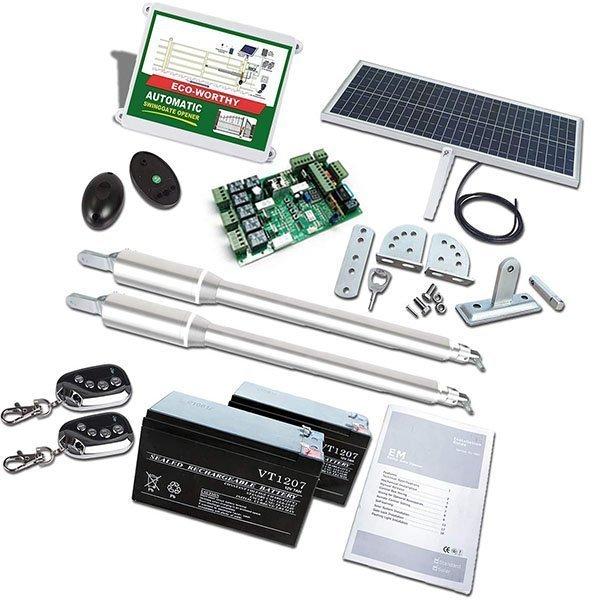 eco-worthy automatic gate opener kit solar - solar gate opener