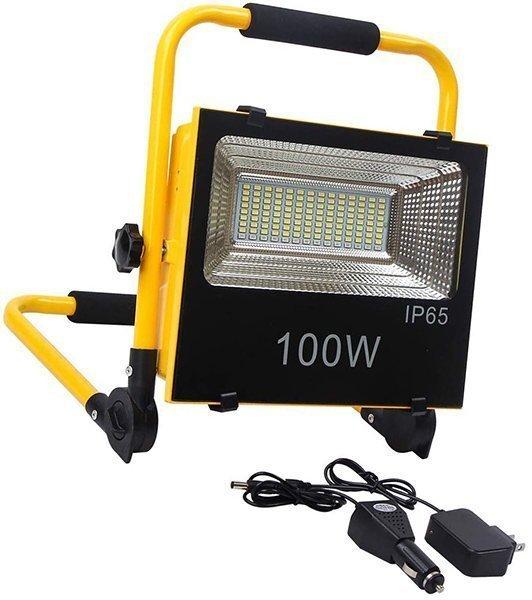 fishnu 100w rechargeable flood light - solar powered flood lights