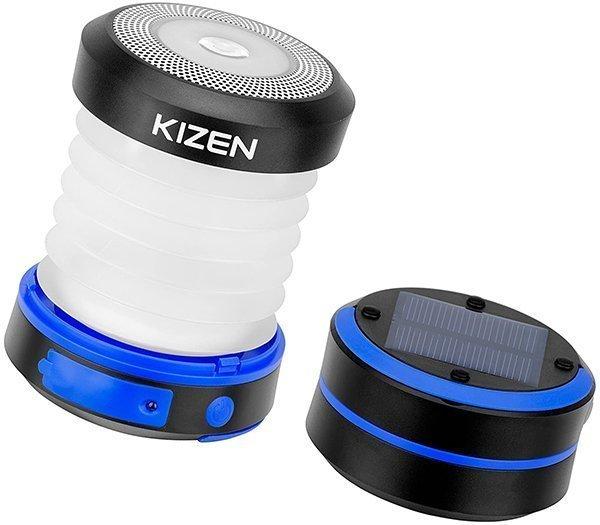 kizen solar powered led camping lantern - solar camping lights
