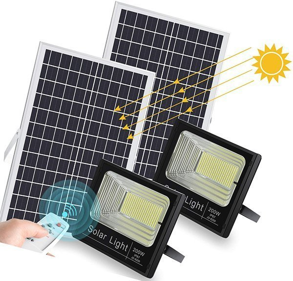 ledmo remote controlled solar powered flood light - solar powered flood lights