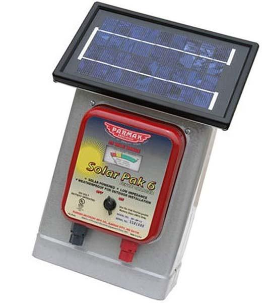 parmak df-sp-li solar pak 6 - solar fence charger