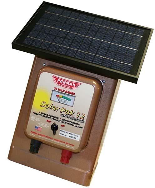 parmak magnum solar-pak 12 low impedance - solar fence charger
