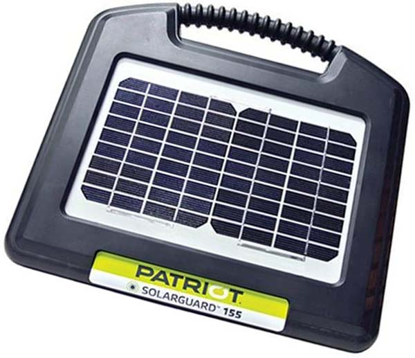 patriot solarguard 155 fence energizer - solar fence charger