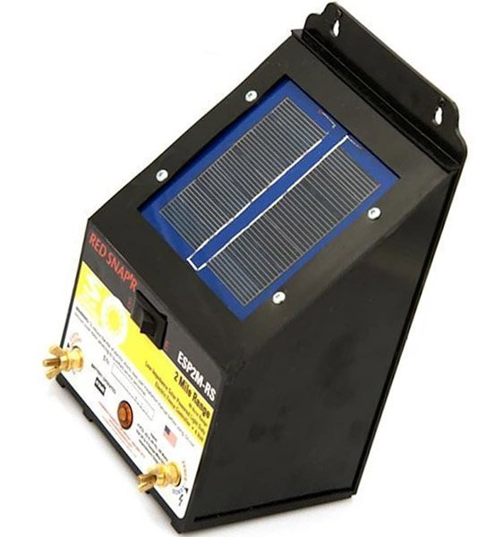 red snap'resp2m-rs 2-mile solar fence charger - solar fence charger