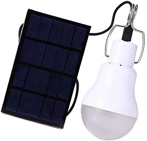 afoskce solar light bulb outdoor 130lm portable solar powered led bulb