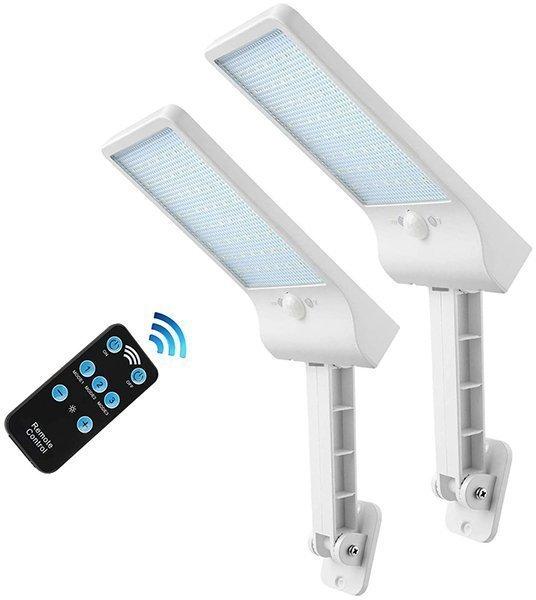 auzev 56 led remote solar lights outdoor - solar motion light
