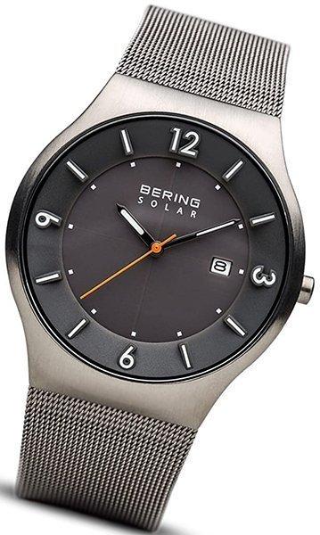 bering time men's slim solar watch 14440-077 - solar watch