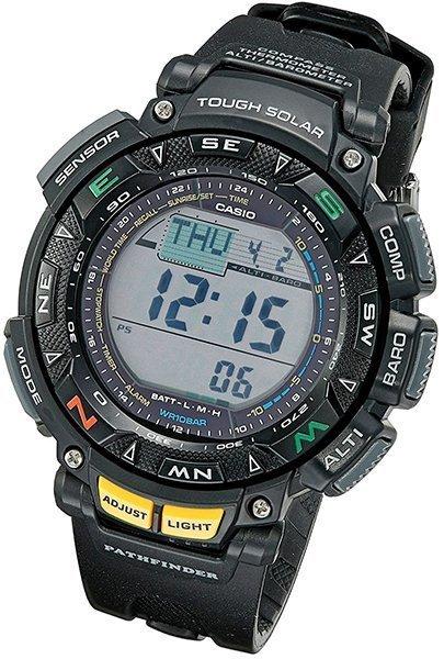casio men's pathfinder triple sensor multi-function sport watch - solar watch