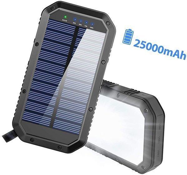 goertek solar power bank 25000 mah - solar power banks