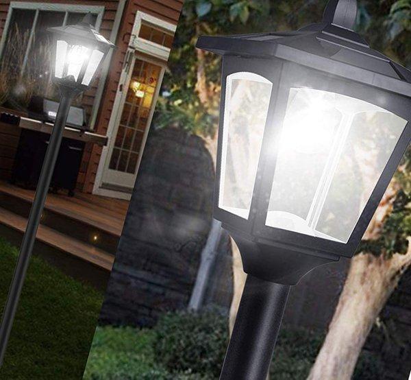 greluna solar lamp post lights outdoor - solar lamp post lights