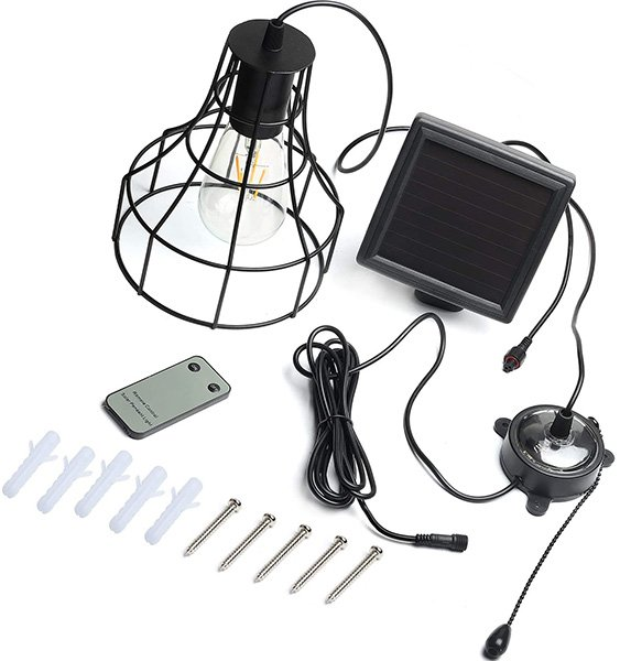 kyson solar powered led shed light with on off switch and pull cord - solar shed lights