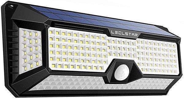leclstar solar motion sensor light outdoor - solar motion light