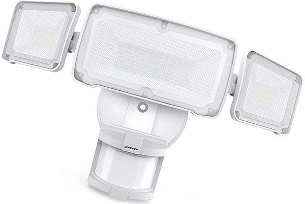 lepower 35w led security lights motion sensor light outdoor - solar motion light