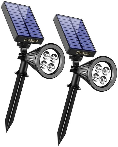 urpower solar lights 2-in-1 waterproof 4 led solar spotlight - solar spot lights