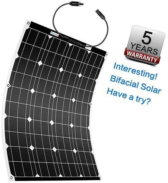 winnewsun flexible solar panel bifacial 100w - best flexible solar panels