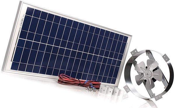 amtrak solar's powerful 40-watt galvanized steel new upgraded 14 solar attic fan - solar attic fan
