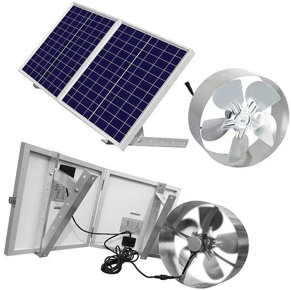 eco-worthy 25w solar powered attic ventilator gable roof vent fan - solar attic fan