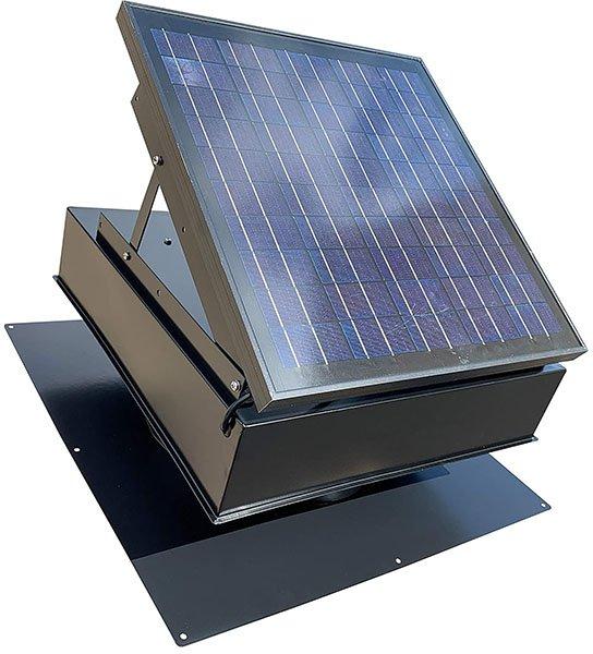 remington 30-watt solar attic fan (black) with thermostat/humidistat - solar attic fan