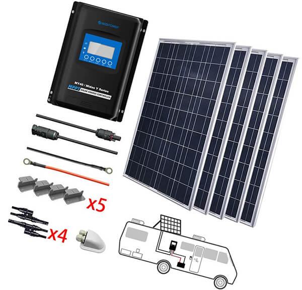 acopower 500 watts 12/24 volts polycrystalline panel solar rv kits - cheap solar panels