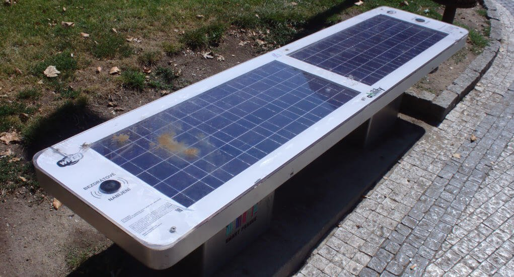 Solar Powered Benches