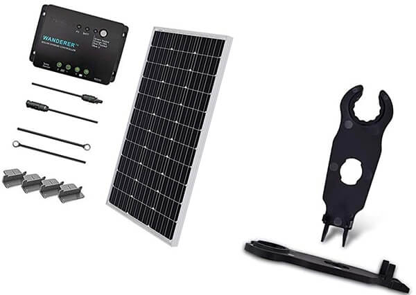 renogy 100 watts 12 volts monocrystalline solar starter kit - how many solar panels do i need?
